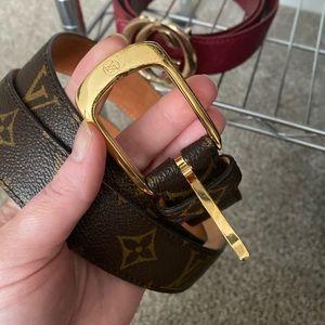 Authentic Louis Vuitton Ellipse de mono belt